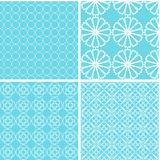 Vintage different vector seamless patterns. Set of mint geometric ornament Vector Illustration