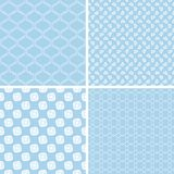 Vintage different vector seamless patterns. Set of geometric ornament Royalty Free Stock Photo