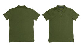 Vintage Dimmed Green color Polo Shirt with white background Royalty Free Stock Image