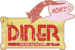 Vintage diner sign, Stock Image