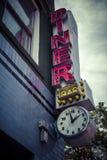 Vintage diner sign. Classic diner sign outside New York establishment with vintage effect Stock Photo