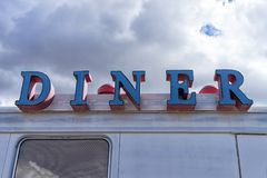 Vintage diner sign Royalty Free Stock Photo