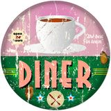 Vintage diner sign Royalty Free Stock Photography