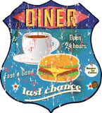 Vintage diner sign Stock Image