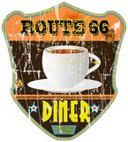 Vintage diner sign, Royalty Free Stock Images