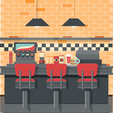 Vintage diner vector. For your ideas Stock Image