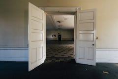Vintage Dining Room - Abandoned Sweet Springs - West Virginia stock images