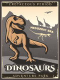 Vintage Dinosaur Poster Royalty Free Stock Images