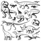 Vintage Dinosaurs Collection Stock Photography