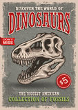 Vintage dinosaurs poster Stock Photo
