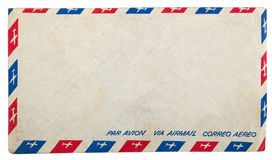 Vintage dirty airmail envelope Royalty Free Stock Images
