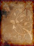 Vintage dirty floral background Stock Images