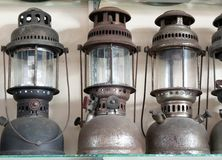 Vintage dirty oil lamp Stock Photo