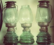 Vintage dirty oil lamp Stock Image