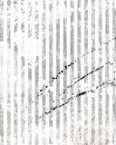 Vintage dirty striped wallpaper Stock Photo