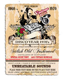 Vintage Disco Flyer vector illustration