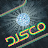 Vintage Disco. 70's stripes Disco design. EPS10 vector illustration with CMYK colors Stock Images