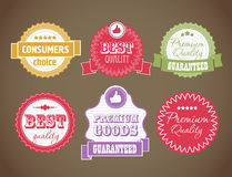 Vintage discount labels set Royalty Free Stock Image