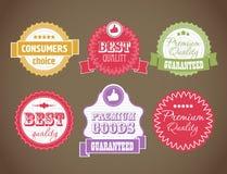 Vintage discount labels set Royalty Free Stock Image