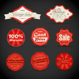 Vintage discount shopping labels Royalty Free Stock Images