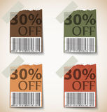 Vintage Discount Tags Design Royalty Free Stock Image