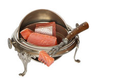 Vintage Dishware With Salmon Stock Image