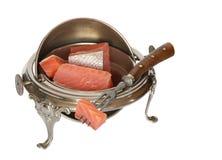 Vintage Dishware With Salmon Stock Image