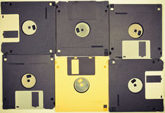 Vintage diskettes background Royalty Free Stock Image