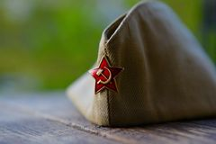 Vintage distinctions of the Soviet army of 1945 Stock Photo