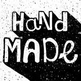 Vintage distressed black and white Hand Made label Stock Photography