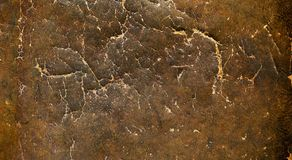 Vintage distressed brown leather texture Royalty Free Stock Photos