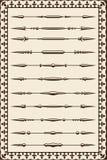 Vintage divide lines Stock Image