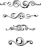 Vintage divide scrolls Royalty Free Stock Images