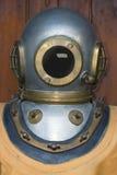Vintage Diving Helmet. Old Massive Diving Suit Helmet royalty free stock photo