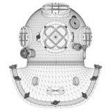 Vintage Diving Helmet Vector Royalty Free Stock Images