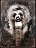 Vintage do borrão do grunge do horror do medo da arte de Digitas preto ilustração royalty free