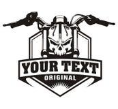 Vintage do crânio da motocicleta Imagens de Stock