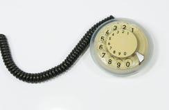 Vintage do discador do telefone imagem de stock