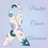 Vintage do fundo da conscientização do câncer da próstata ilustração do vetor