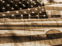 Vintage do ônibus escolar Fotografia de Stock Royalty Free