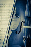 Vintage do violino e do violino Fotografia de Stock