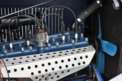 Vintage Dodge car engine royalty free stock photography