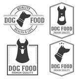 Vintage dog food badges and logotypes set. Stock Photos