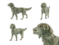 Vintage dog metal figurine Royalty Free Stock Image
