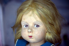 Vintage doll face Royalty Free Stock Photo