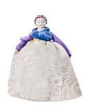 Vintage doll female porcelain figurine stock photo