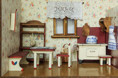 Vintage doll house Royalty Free Stock Photo