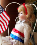 Vintage Doll Red White Blue Royalty Free Stock Photography
