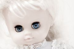 Vintage doll's face closeup Stock Photography