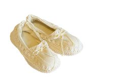 Vintage doll shoes Stock Photography